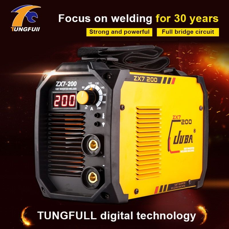 Tungfull Electric arc welder inverter Electric Welding Machine 200A IP21S arc welder inverter for Welding Working and Electric