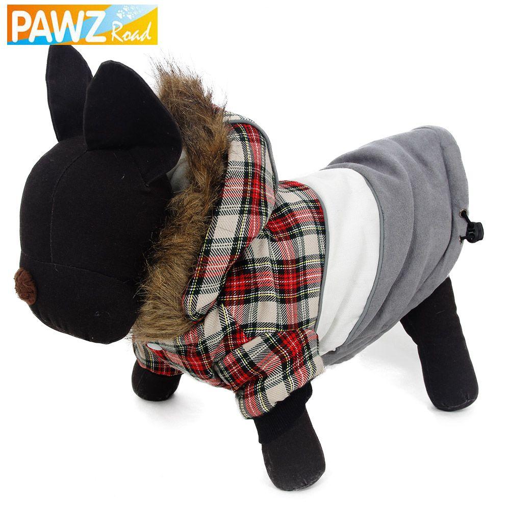 Kostenloser Versand Haustier Hund Winter Kleidung Warme Kleidung für Hund Hoodie Bekleidung 4 Size Fashion Design Mantel Jacke Luxus Fell
