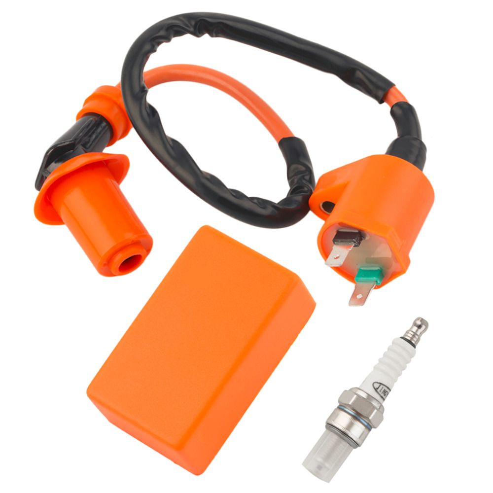 Newest Ignition Coil Fit Gy6 50cc 125cc 150cc Motorcycle Racing Performance CDI+ Ignition Coil + Spark Plug New Hot Selling