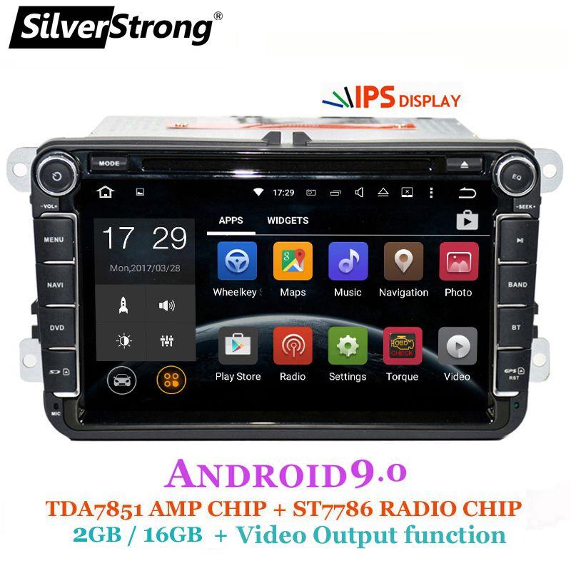 SilverStrong 2Din IPS ANDROID9.0 Auto DVD für VW Android für Volkswagen für Passat für Golf für Polo/Octavia radio für Skoda 801