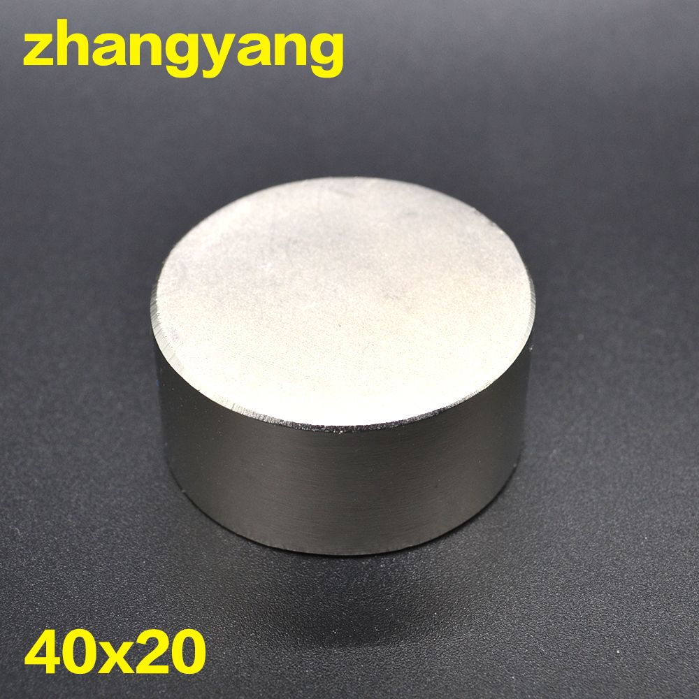 Free shipping 1PC hot magnet 40x20 mm N42 Round strong magnets powerful Neodymium magnet 40x20mm Magnetic metal 40*20mm