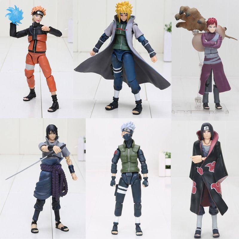 15cm Naruto SHF Figuarts Sasuke Namikaze Hatake Kakashi Uchiha Itachi PVC Action Figures Toys S.H Figuarts Susuke Naruto Figure