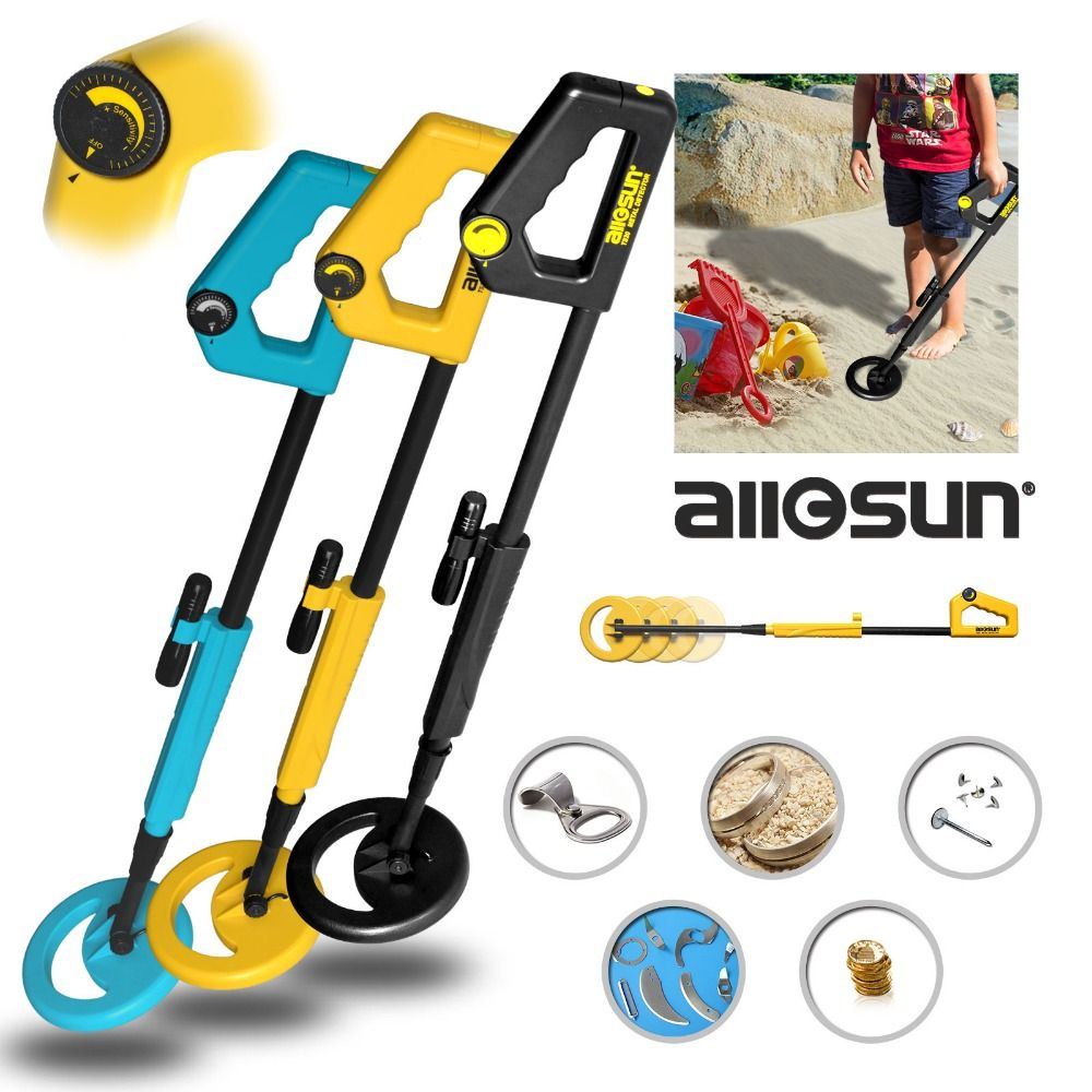 Underground Metal Detector Treasure Hunter <font><b>Gold</b></font> TS20A for Kids as Children's Day Gift Toy with High Sensitivity Adjustable Shaft