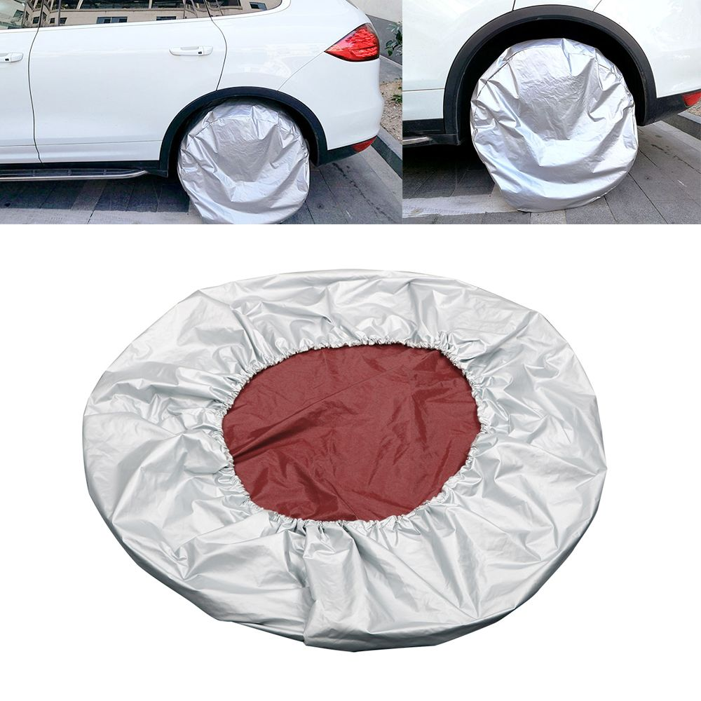 Universal Car-styling Tire Protector 27-29 Dust-proof Waterproof Sun Shade Silver Car Spare Tyre Cover Adjustable