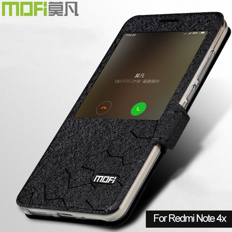 Xiaomi Redmi Note 4x cas MOFi redmi Note4x filp couverture de silicium Xiomi Redmi Note 4x3G 32G livre cas flip en cuir coque fonds