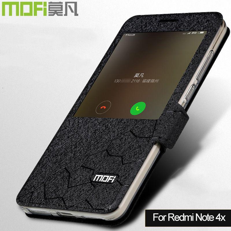 Xiaomi redmi Note 4x etui MOFi redmi Note4x coque filp silicone Xiomi redmi Note 4x3G 32G etui livre flip coque cuir fonds