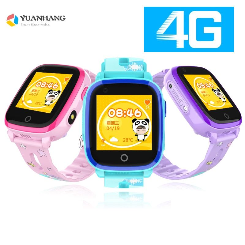 IP67 Waterproof Smart 4G Remote Camera GPS WI-FI Kids Children Students Wristwatch SOS Video Call Monitor Tracker Location Watch