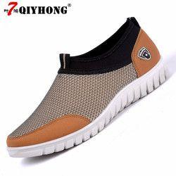 Hombres zapatos Casual verano zapatillas transpirable hombres cómodos zapatos mocasines calzados Slipon caminar tamaño grande 38-48