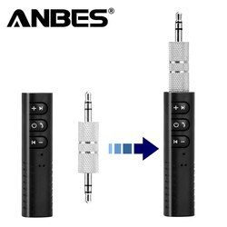 ANBES Car Bluetooth AUX 3.5mm Jack Bluetooth Receiver Handsfree Call Bluetooth Adapter Car Transmitter Auto Music Receivers