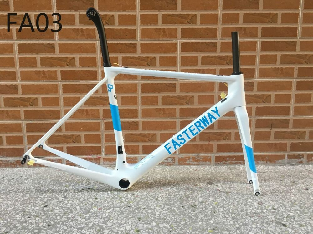 HOT!T1000 2018 fasterway O2 personal customs paint carbon road frame:carbon Frame+Seatpost+Fork+Clamp+Headset,ems free shipping