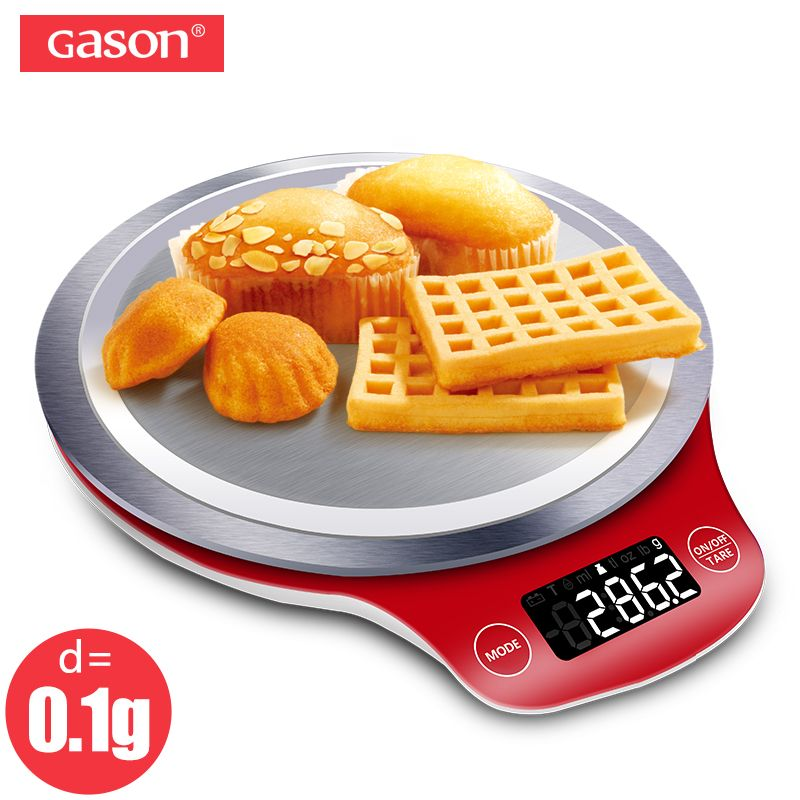 GASON C4 LCD Küche Skala Digital Gramm Metall Elektronische Genaue Balance Mini Kochen Lebensmittel Messen Werkzeuge Palette Essen 5000g