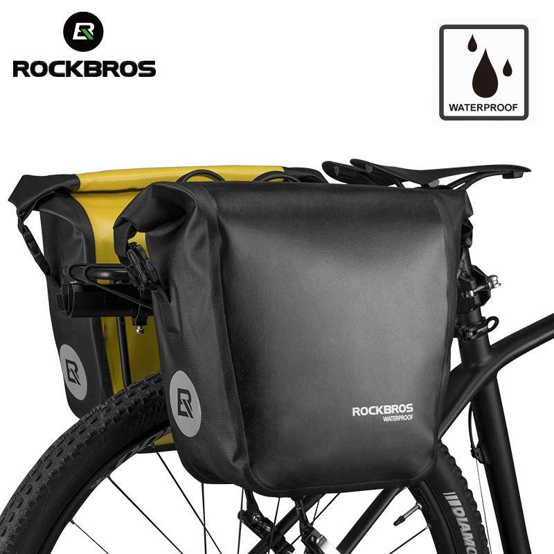 ROCKBROS Fahrrad Fahrrad Tasche Tragbare Wasserdichte Radfahren MTB Bike Bag Pannier Gepäckträger Sitz Stamm Rucksack Fall Bike Zubehör