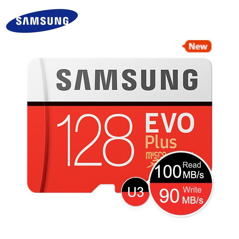 SAMSUNG New Micro SD Memory Card EVO+ 128GB 64GB 32GB 95MB/s 100MB/s C10 SDHC SDXC U1 U3 TF Card 64G 32G 100% Original