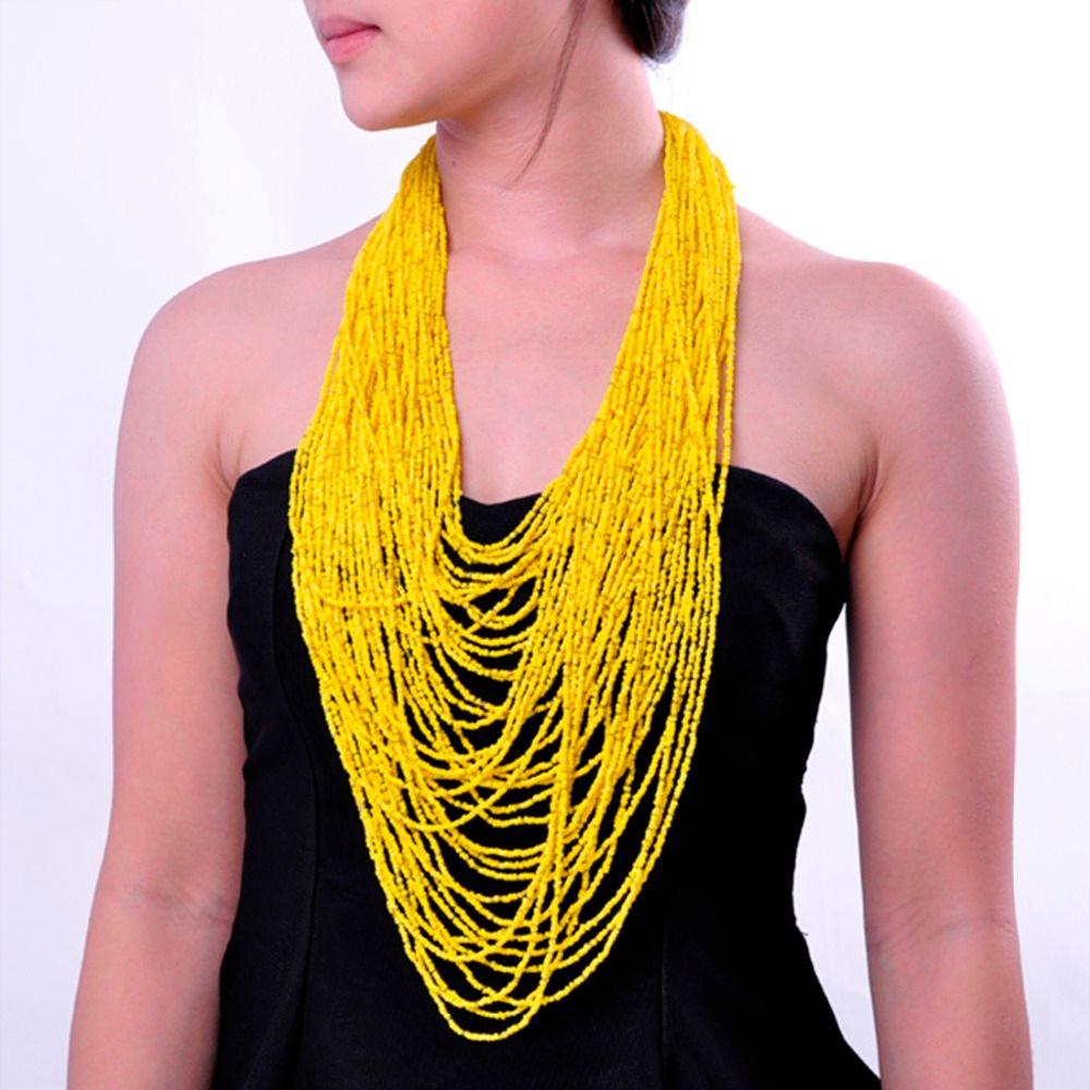 19 couleurs 42 couches résine perles Cluster grand Long déclaration collier Top vente Super offres livraison gratuite cadeau fait main mode
