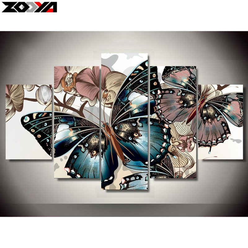 ZOOYA 5d diy Diamond embroidery colorful butterfly diamond painting Cross Stitch full drill Rhinestone mosaic Multi-picture