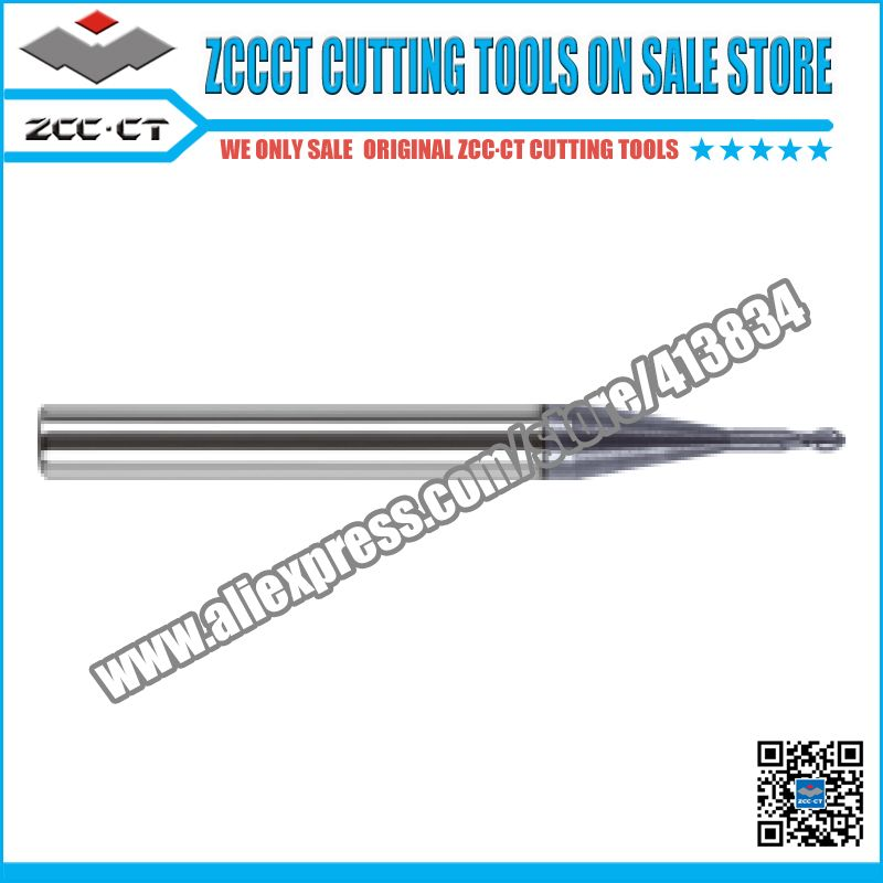 ZCCCT cutting tools cnc milling cutter solid carbide end mills 1 pack for dental lab