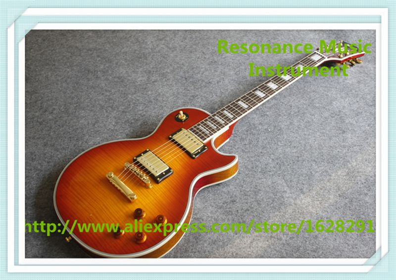 China OEM One Piece Neck & Body LP Custom Guitar Electric In Stock Lefty Handed Custom Available