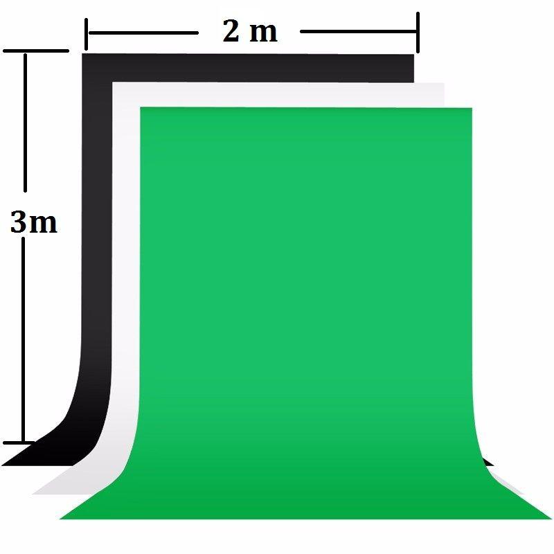 2x3 m photographie fond écran 100% coton mousseline Chroma clé toile de fond photographique pour Studio Photo accessoires noir vert blanc