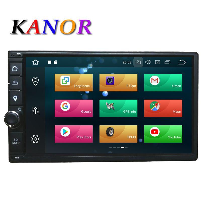 KANOR Octa Core RAM 4G ROM 32G 2 Din Android 8.0 Car Radio GPS Navigation For Hyundai Elantra Sonata Tucson Santa Fe Lavita Getz