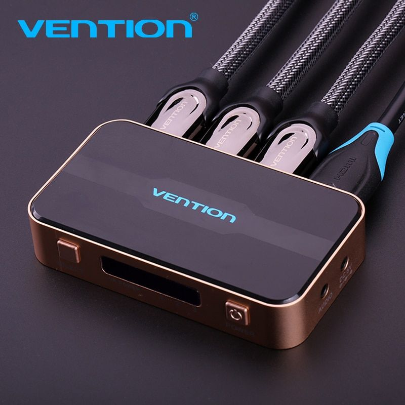 Vention HDMI Splitter 3 Input 1 Output 4K 3 Port HDMI Switcher Swtich HDMI with Toslink Audio 3D 2160P For Xbox 360 PS4 Smart TV