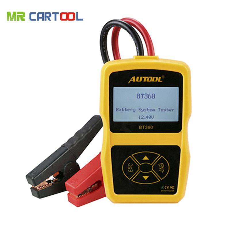 Высокое качество autool bt-360 Батарея тестер bt360 автомобиля Батарея тестер BT 360 тестер обновлен bst-100 Батарея тестер