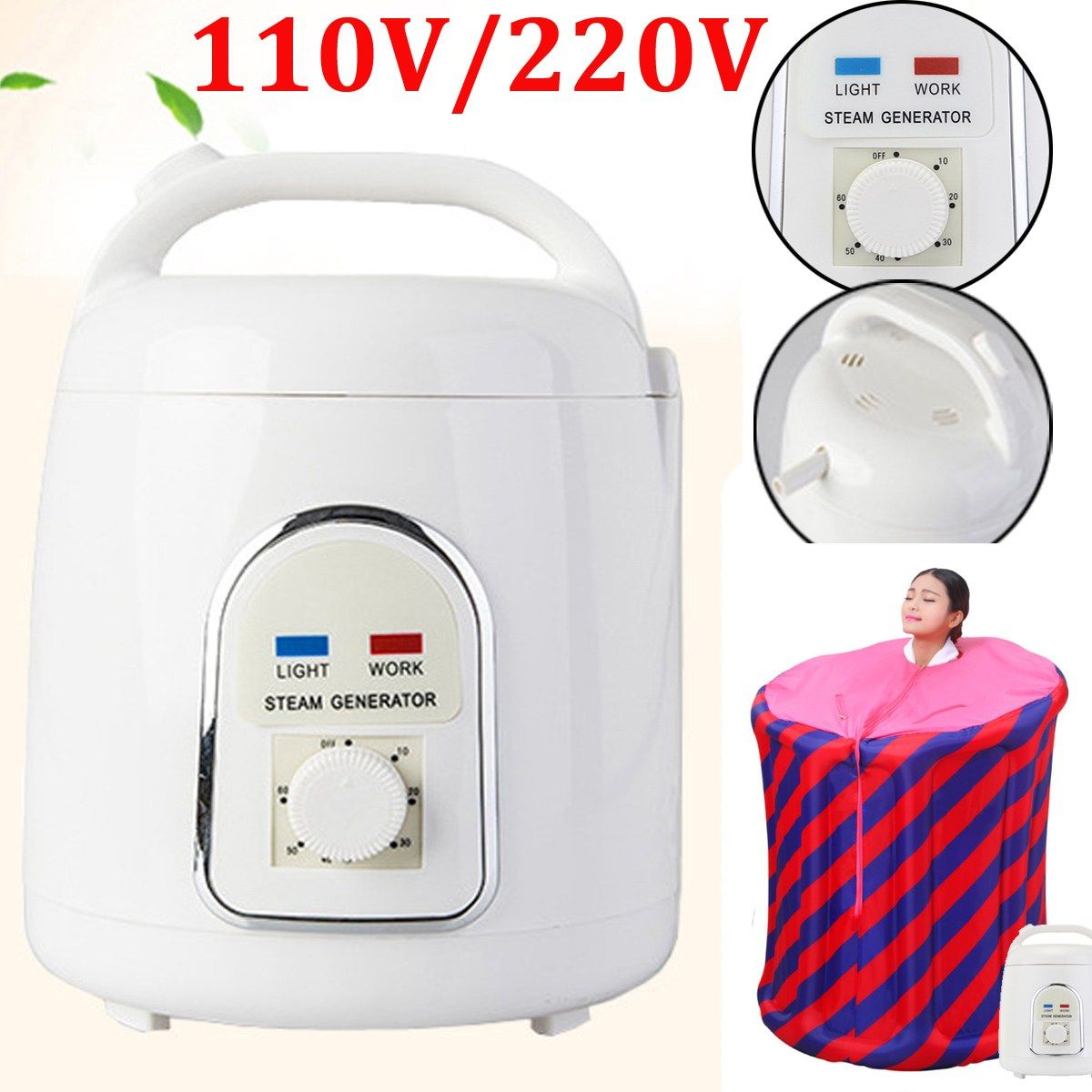 Home Steam Generator Capacity 1.8L Steamer Pot Spa for portable steam sauna spa Relaxes tired