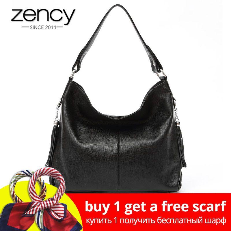 2019 New Fashion Soft Real Genuine Leather Tassel Women Handbag Elegant Ladies Hobo Shoulder Bag Messenger Purse Satchel White