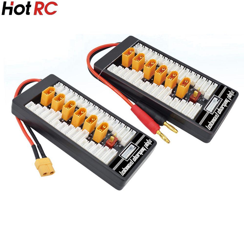 1pcs HotRc High Quality 2S-6S XT60 Plug Parallel Charging Board Para Board XT60 Plug 4.0MM Bananer for Imax B6 B6AC B8 6 in 1