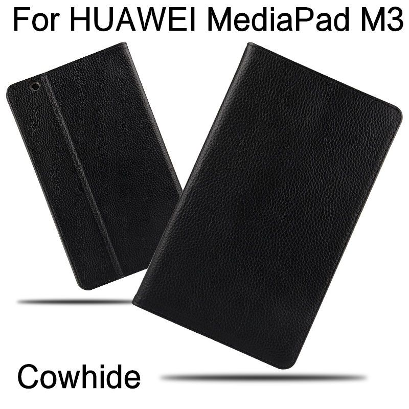 Case Cowhide For Huawei MediaPad M3 Smart cover Genuine Leather Tablets Protective 8.4 inch For HUAWEI M3 BTV-W09/DL09 Protector