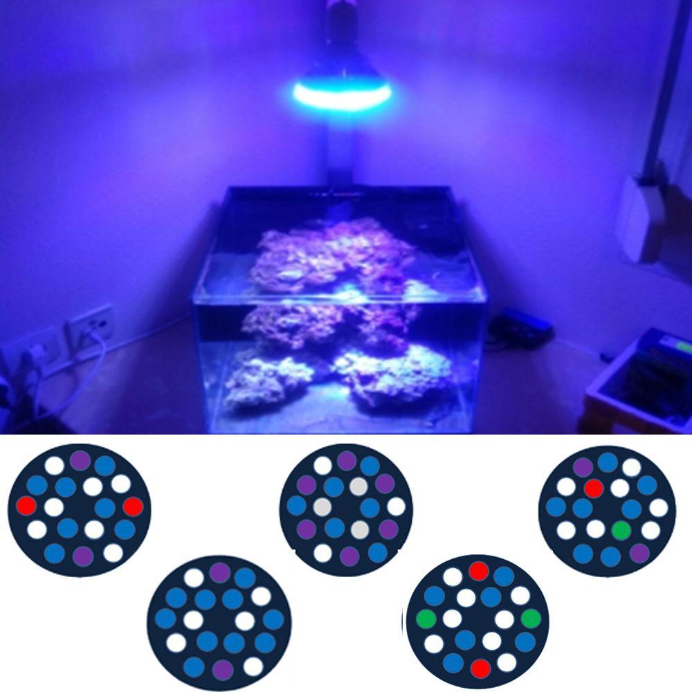 54 watt Voll Spektrum FÜHRTE Aquarium Beleuchtung E27 Aquarium Licht LED PAR38 Korallenriff Verwendet FÜHRTE Licht für Gepflanzt Aquarien refugiums