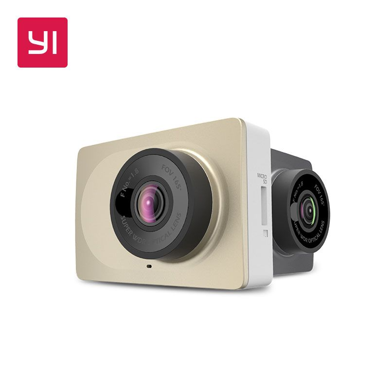 YI Dash Camera 2.7 Screen Full HD 1080P60fps 165 degree Wide-Angle Car DVR <font><b>Vehicle</b></font> Dash Cam with G-Sensor Night Vision ADAS