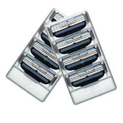 8 шт./лот Бритвы лезвия для Для Мужчин's Уход за кожей лица бритья Бритвы, ААААА + 3 Слои кассеты для бритья маше для RU & Евро бритвы