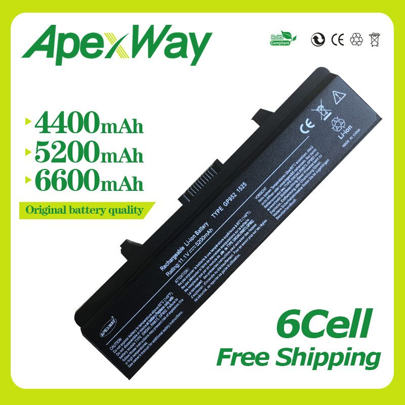 Apexway 11.1V 6 cell Laptop Battery for Dell Inspiron 1525 1545 1526 1546 for Vostro 500 PP29L 0RU573 0RW240 0UK716 0WK371