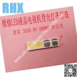 100piece/lot FOR repair Philips SONY Toshiba LCD TV LED backlight SMD LEDs Seoul 3535 6V Cold white light emitting diode