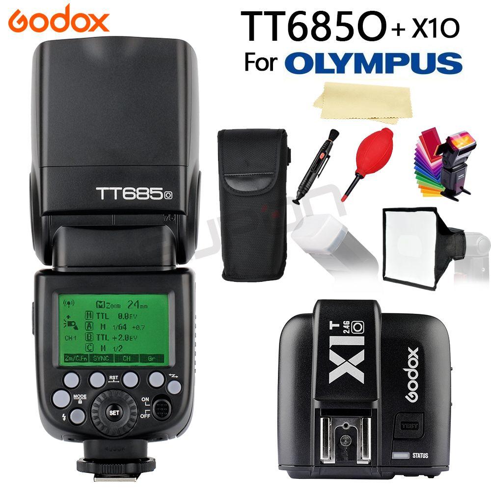Godox TT685 TT685O 2.4G HSS 1/8000s i-TTL GN60 Wireless Speedlite Flash + X1T-O Trigger for Olympus Panasonic DSLR Camera + GIFT