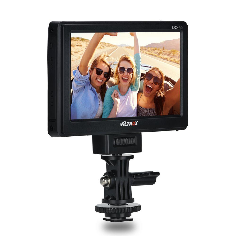 Viltrox DC-50 Portable 5 ''HD Clip-on LCD HDMI caméra vidéo moniteur pour Canon Nikon Pentax Sony A7 A7SII A6500 A6300 DSLR