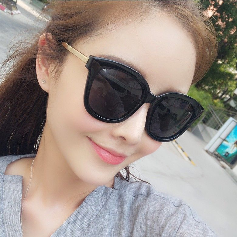 2017 new large sunglasses Tang Yan with metal glasses legs of the male and female fashion sunglasses 15948 color film