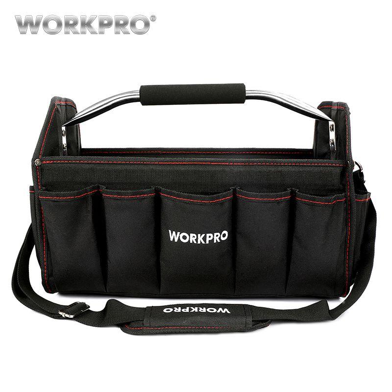 WORKPRO 16 600D Foldable Tool Bag <font><b>Shoulder</b></font> Bag Handbag Tool Organizer Storage Bag