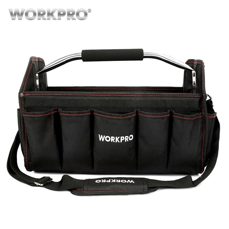 WORKPRO 16 600D <font><b>Foldable</b></font> Tool Bag Shoulder Bag Handbag Tool Organizer Storage Bag
