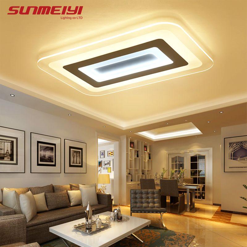 Modern Led Ceiling Lights For Indoor Lighting plafon led Square Ceiling Lamp Fixture For Living Room Bedroom luminaria teto