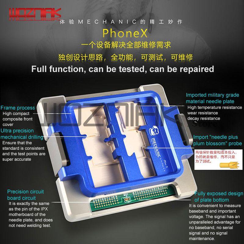 Volle funktion Prüfung Für IPHONE X Tester Öffnen der maschine display touch WIFI lampe Kamera horn Test Wartung Plattform Maschine