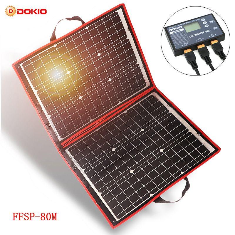 Dokio 18 V 80 W Flexible Foldble Mono Solar Panel Außen Portable Solar Panel Für Reise & Boot & RV hohe Qualität Solar Panel China