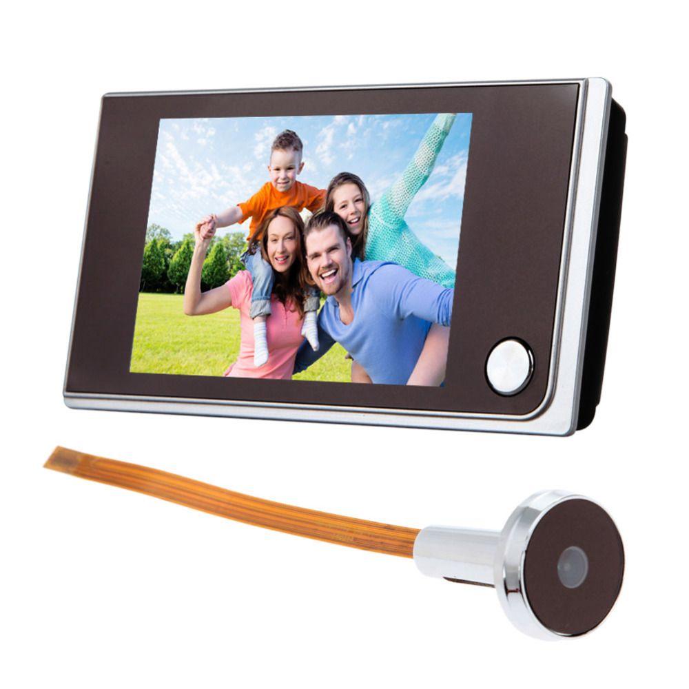 Alta calidad 3.5 pulgadas LCD 120 grados digital mirilla puerta visor de cámara Ojo de puerta Timbres de puerta cámara de color