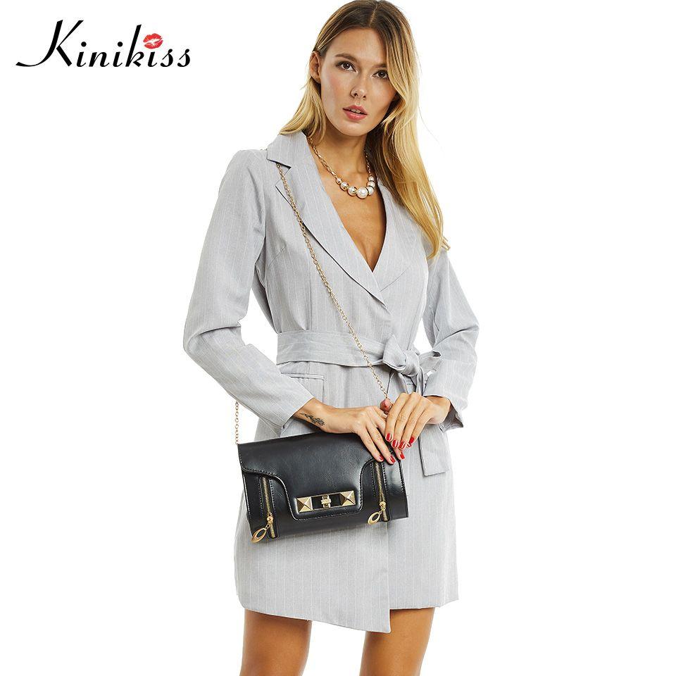 Kinikiss 2017 women trench turn down collar spring gray female coats long sleeve ol office women tops pocket overcoats sashes