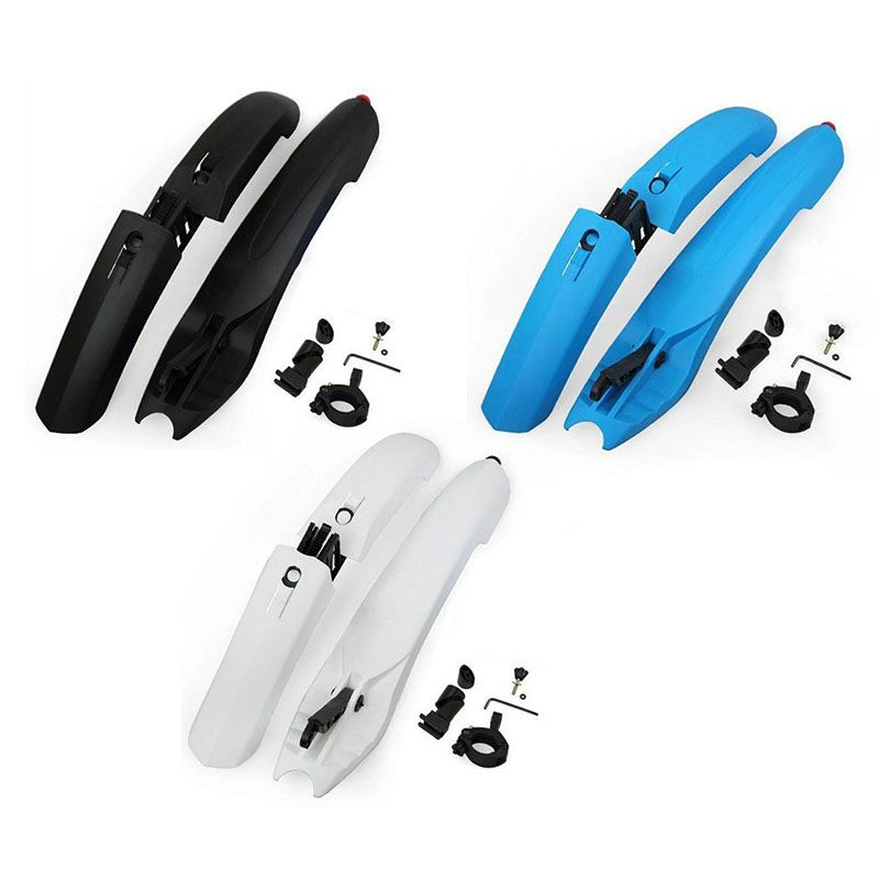Bicycle Bike Mud Guard Fender Bike Parts Quick Release Cycling Fender Wings For Mountain Bike Front Rear Fender With <font><b>Tail</b></font> Light
