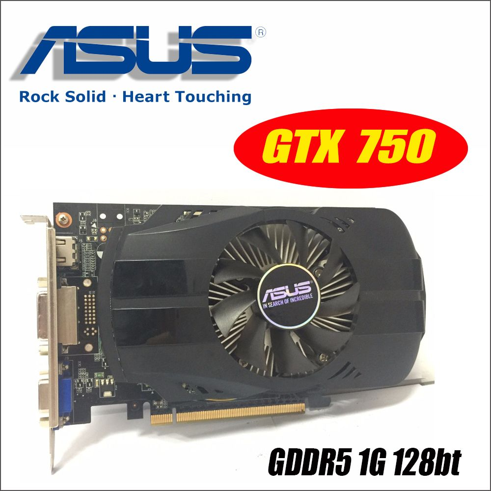Asus GTX-750-FML-1GD5 GTX750 GTX 750 1G D5 DDR5 128 Bit PC Desktop Graphics Cards PCI Express 3.0 computer Graphics Cards
