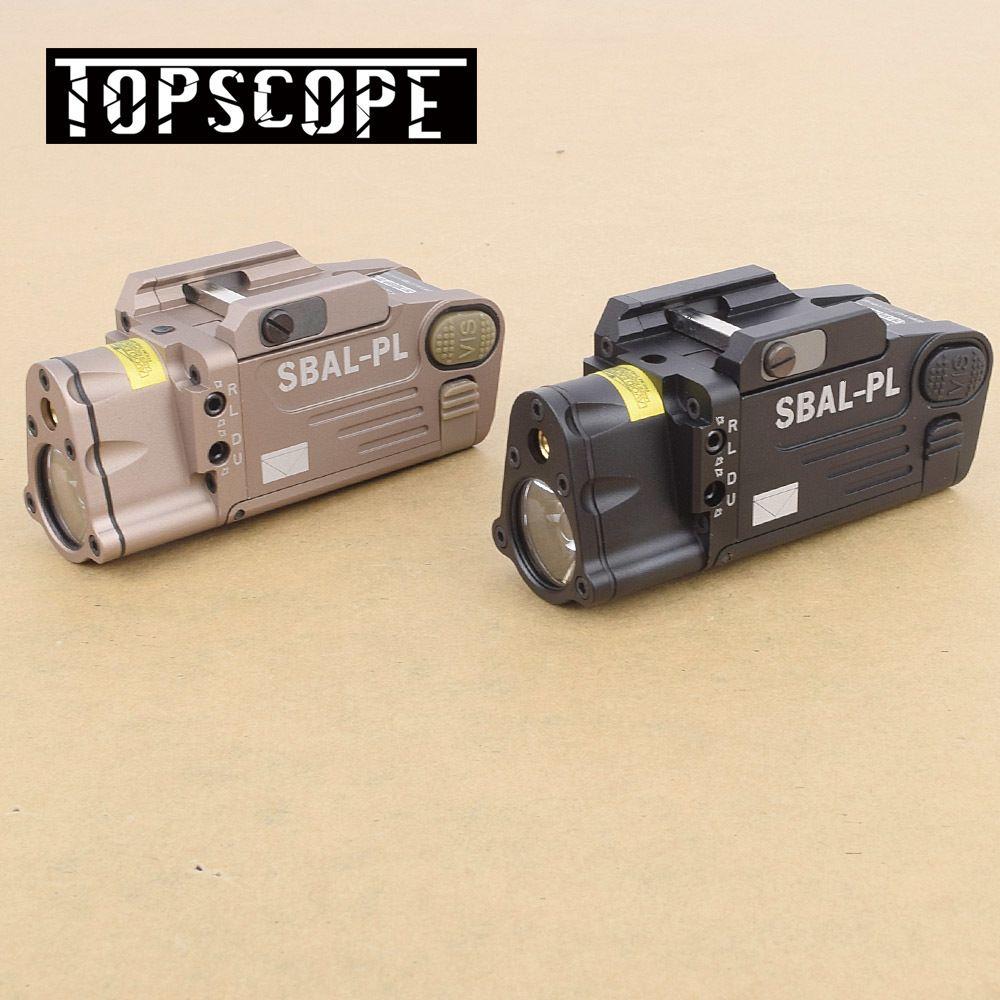 Taktische CNC Fertig SBAL-PL Waffe licht Konstante & Strobe Licht Mit Rot Laser Pistole Gewehr Taschenlampe Freies Verschiffen