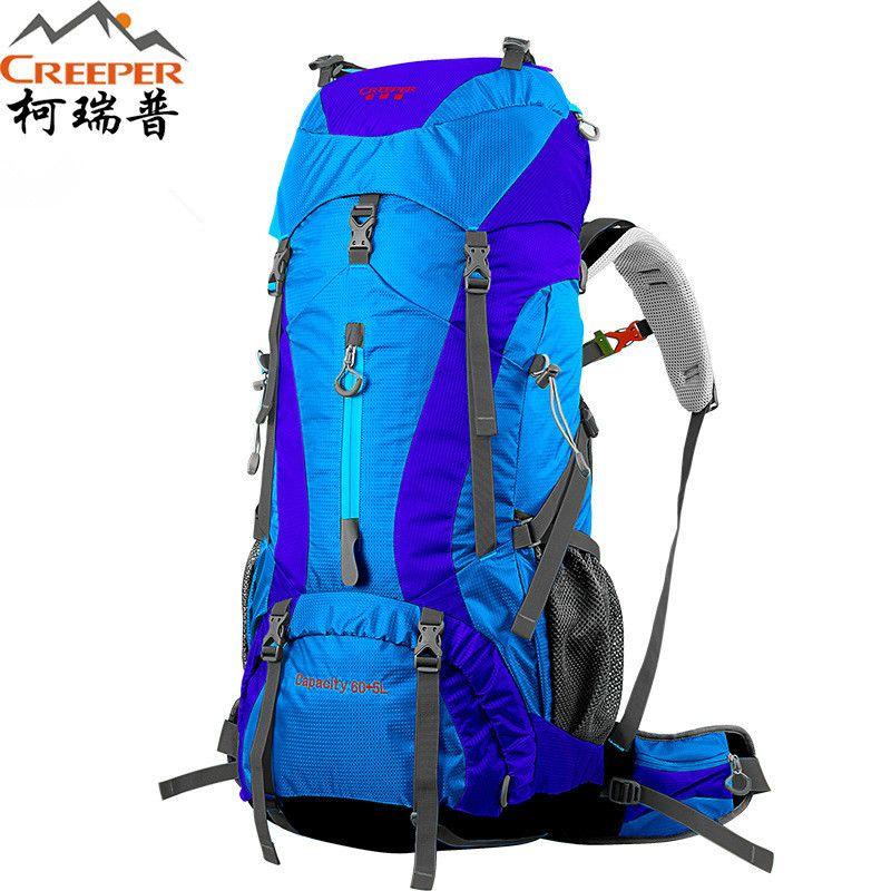 Creeper livraison gratuite 60 + 5L professionnel sac à dos étanche cadre interne escalade Camping randonnée sac à dos alpinisme sac