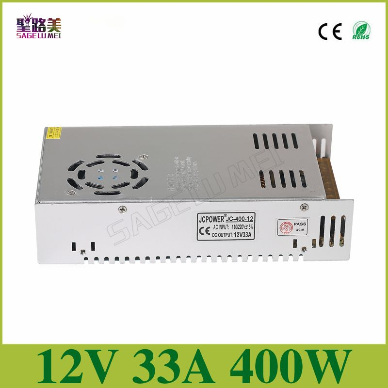 Free shipping DC12V 33A 400W <font><b>Regulated</b></font> Switching Power Supply Driver Transformers For CCTV camera LED Strip Lights Tape Module