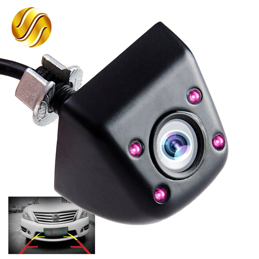 Car Rear View Camera Night Vision with Infrared 170 Degree Mini Waterproof Parking Assistance Black / Chrome Color HD Wire
